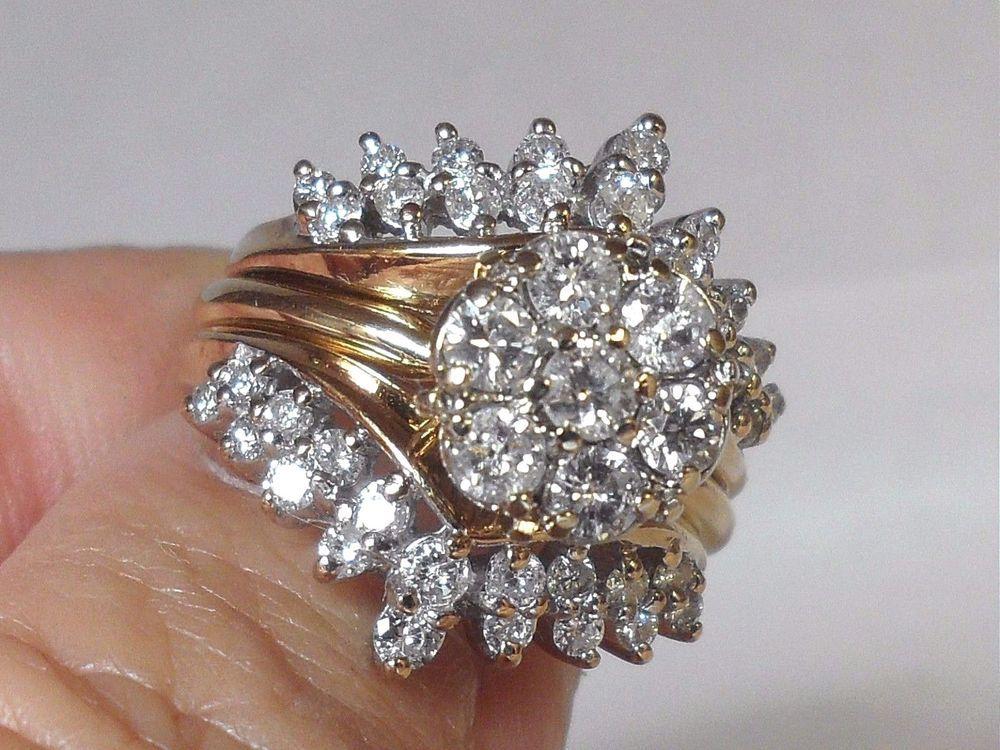 Vintage Wedding Set 2.50 CT Round Diamond Engagement Ring