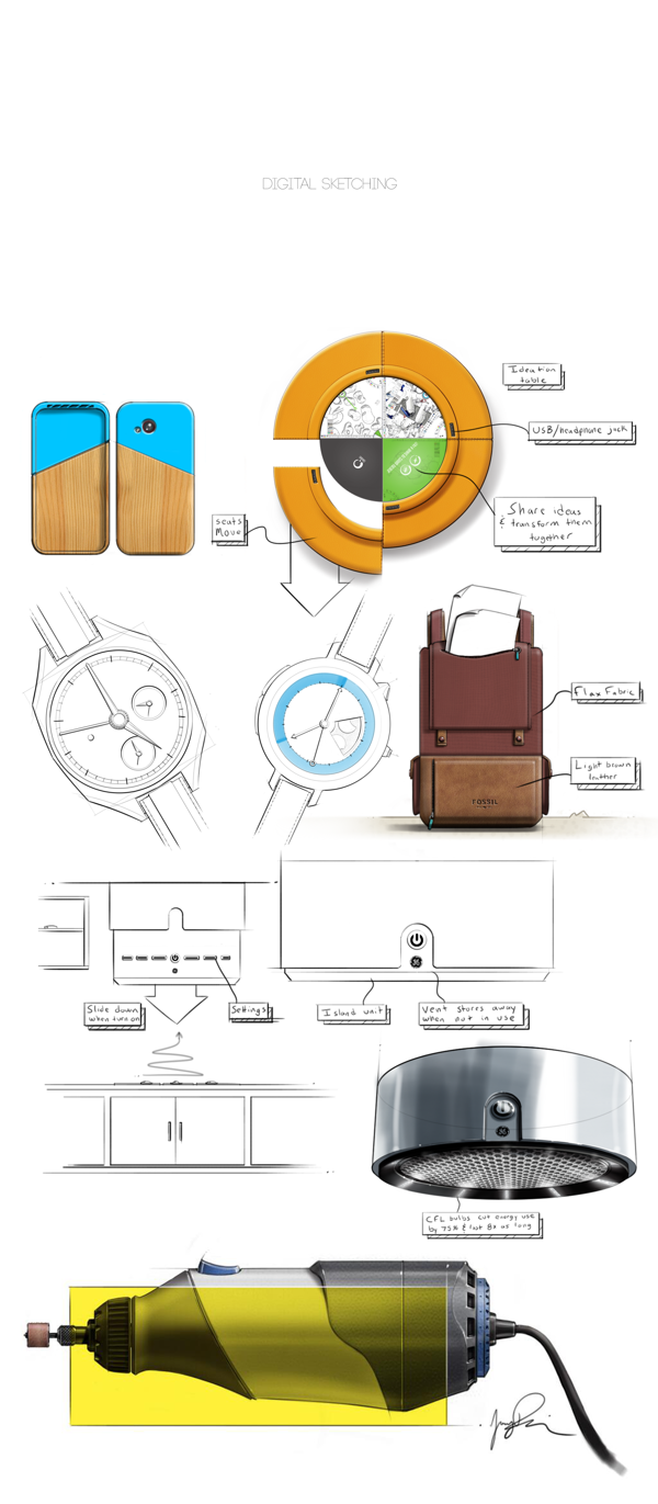 Digital Sketches From Some Current Projects By Jeremy Dennis Via Behance Industrial Design Sketch Sketches Sketch Design