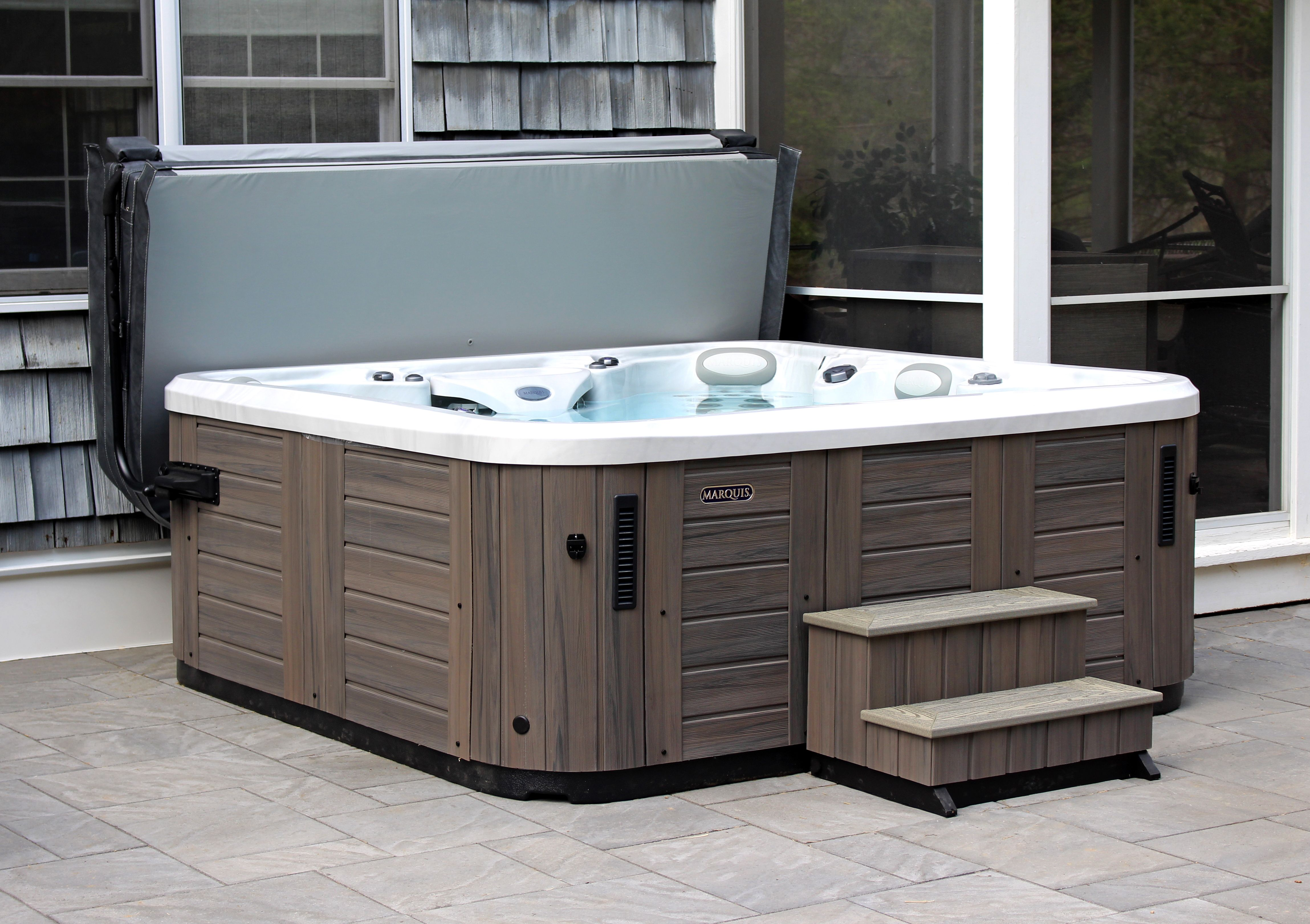 Outdoor Hot Tubs For Sale In Ny Ct Jacuzzi Suppliers Jacuzzi Hot Tub Hot Tub Pergola Hot Tub Patio