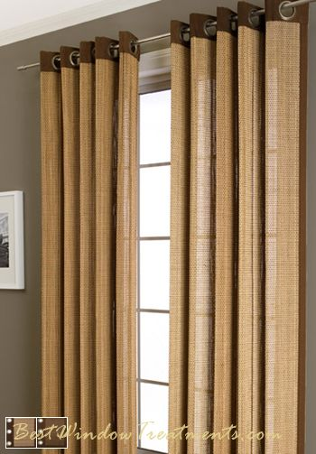 Plait Bamboo Curtain Panel Available In 3 Colors Bamboo Panels