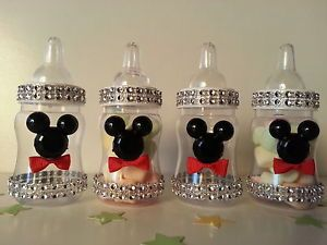 Baby Shower Favors Games ~ Mickey mouse fillable bottles baby shower favors prizes game