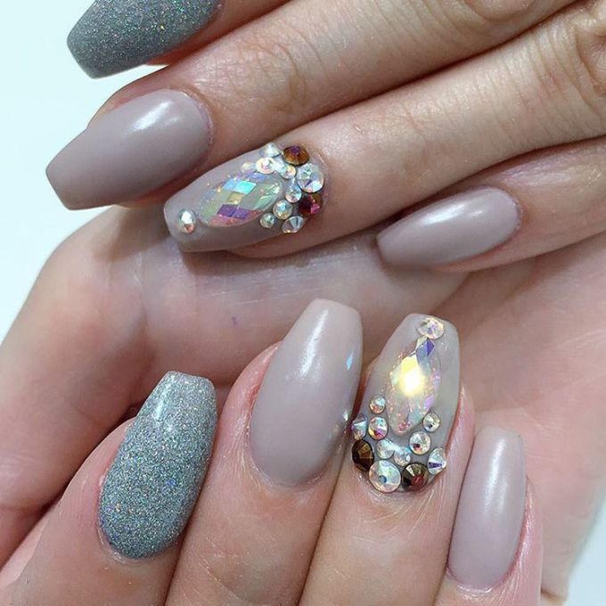 Top 25 Bling Acrylic Nails Trends 2018