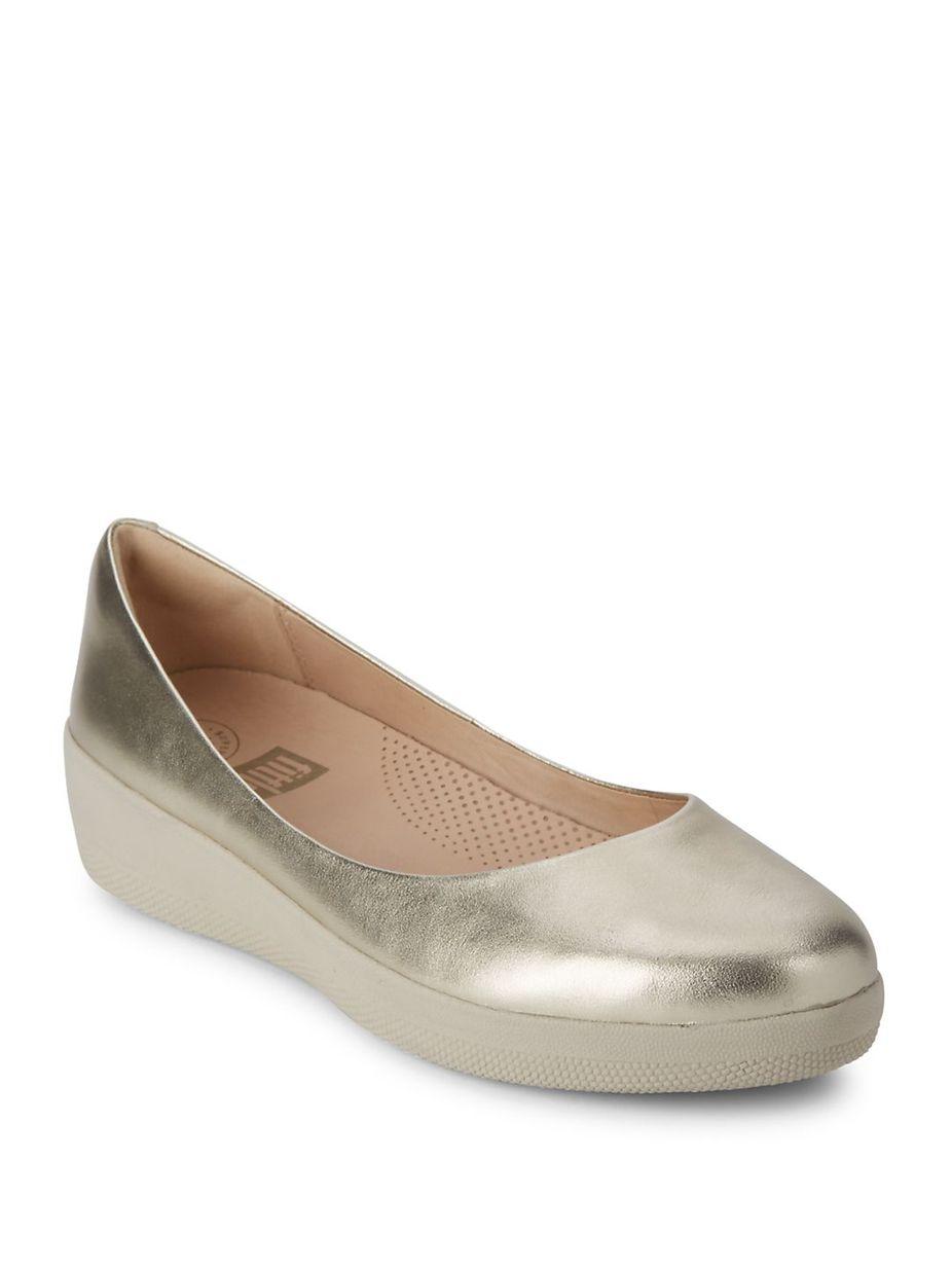 82c9ee49bed8 FitFlop Superballerina TM Leather Ballet Flats