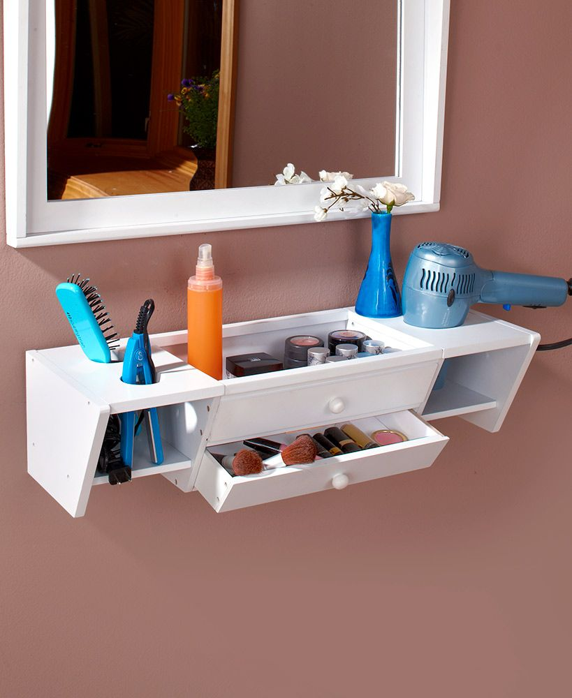 Wall Mounted Bathroom Vanity Shelves In 2020 Vanity Shelves Bathroom Vanity Organization Wall Mounted Bathroom Storage