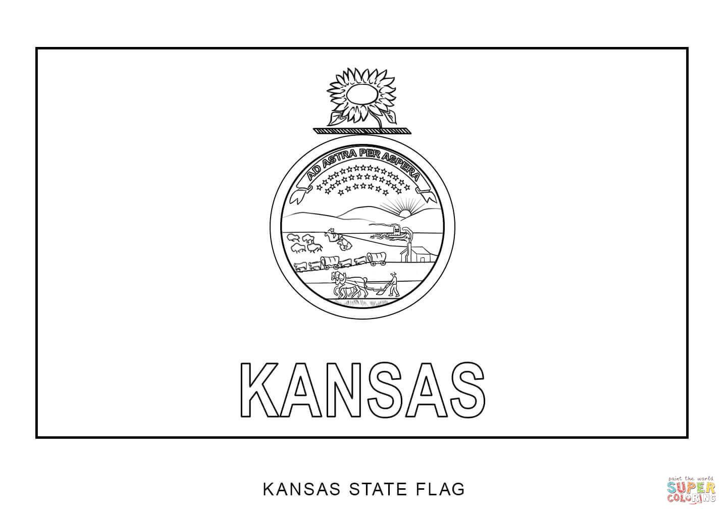Flag Of Kansas Super Coloring Flag Coloring Pages Norway Flag Coloring Pages