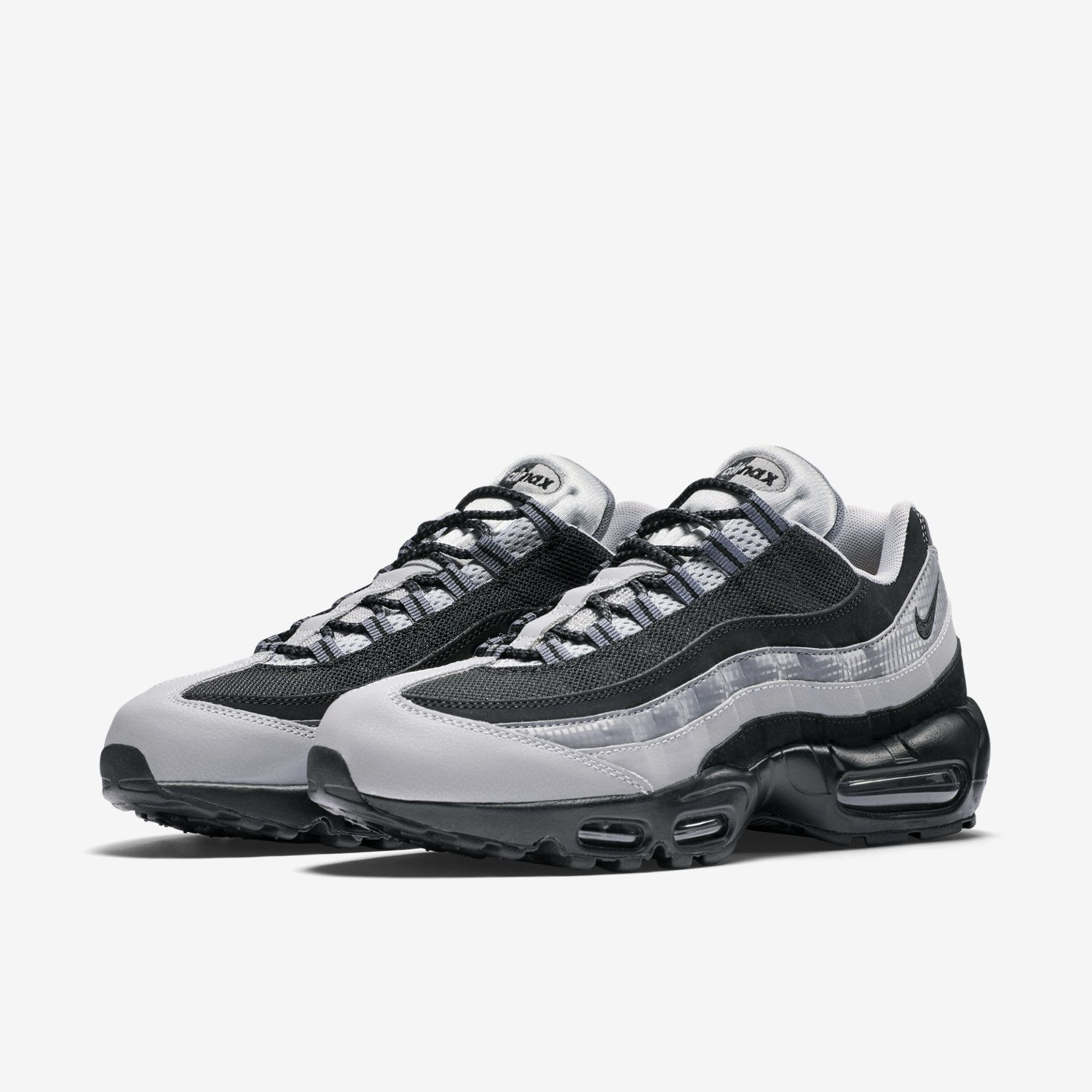 Women's Nike Wmns Air Max 2016 PRM Black Silver Sneakers : M50z1871