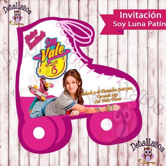Invitacion Soy Luna Patin Por Detallesimprimibles En Etsy