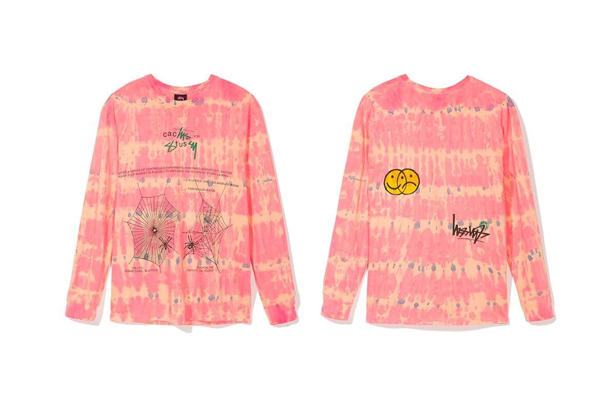 Stussy Collaborates With Cactus Plant Flea Market Union More For New T Shirts Cactus Plants Pink Tshirt Vintage Tees