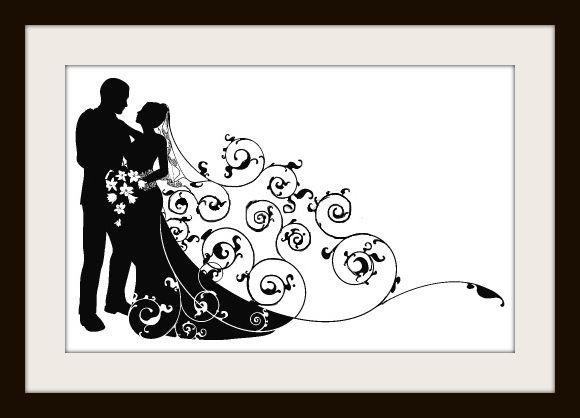 Beautiful Modern Wedding Couple Cross Stitch Pattern - Cross ...