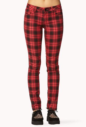 7e1e87b4d90a Forever 21 Plaid Jeans | Clothing, Shoes, and Jewelry Yo! | Skinny ...
