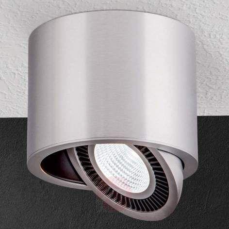 Sølvfarvet LED-påbygningsspot Sofya til loftet
