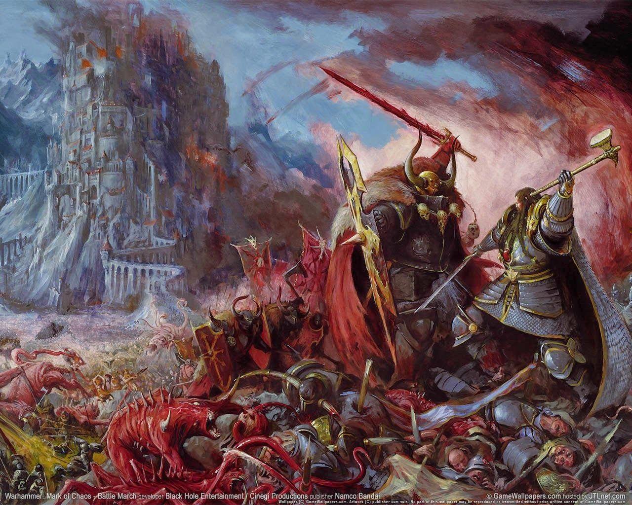Valten vs Archaon, par Games Workshop, in Warhammer Battle, supplément Tempête du Chaos 6e édition