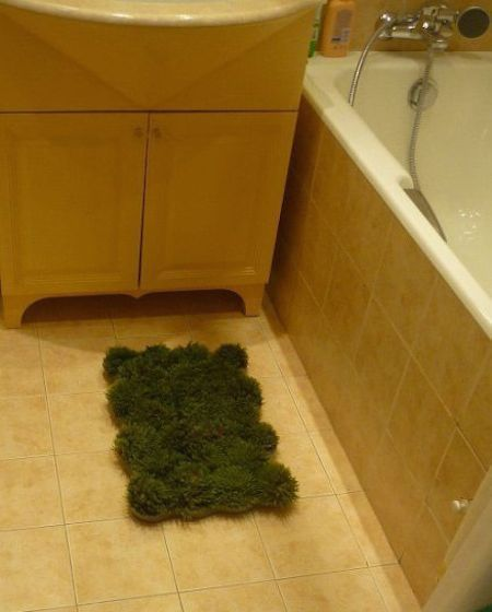 Pictorial: How To Make a Moss Bathmat#bathmat #moss #pictorial