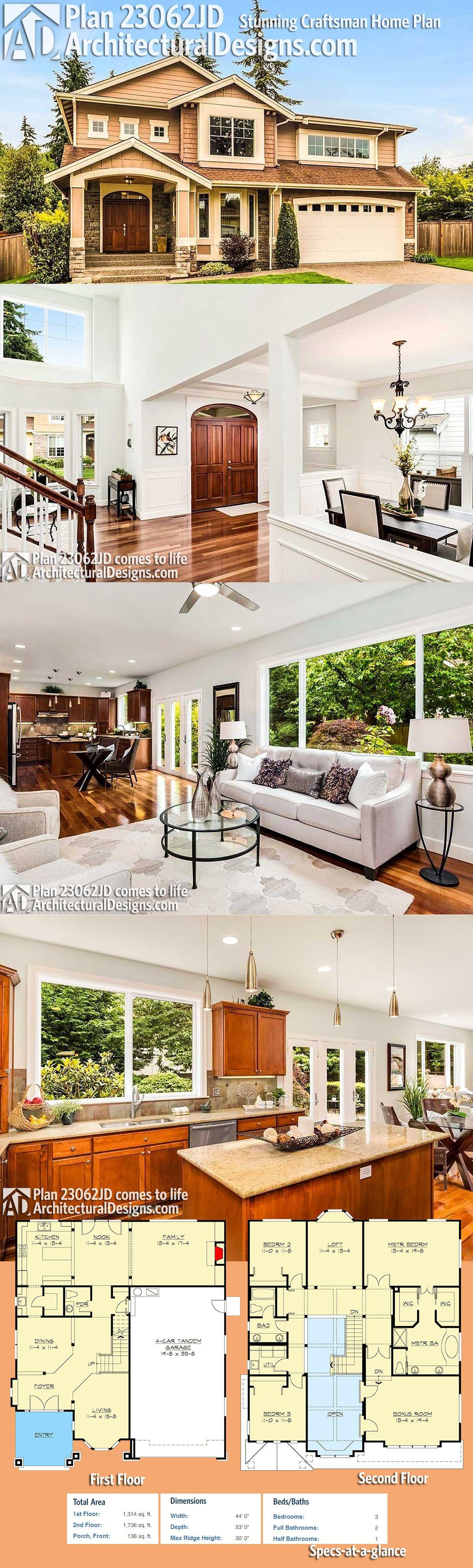 Plan 23062JD Stunning Craftsman Home Plan