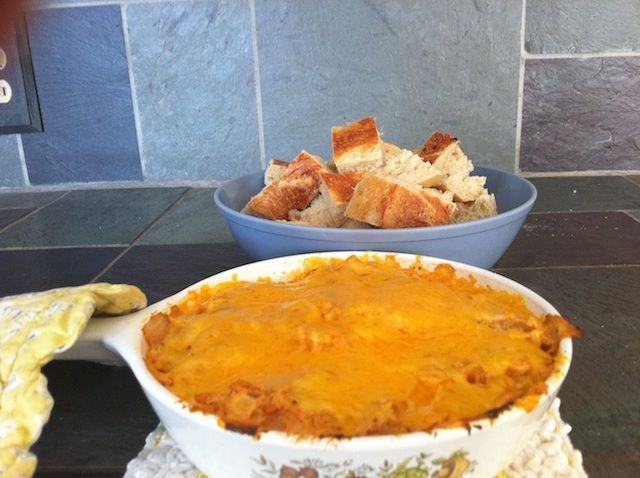 This Buffalo Chicken Dip is served warm and is a great crock pot recipe. It makes a great appetizer or a side dish.