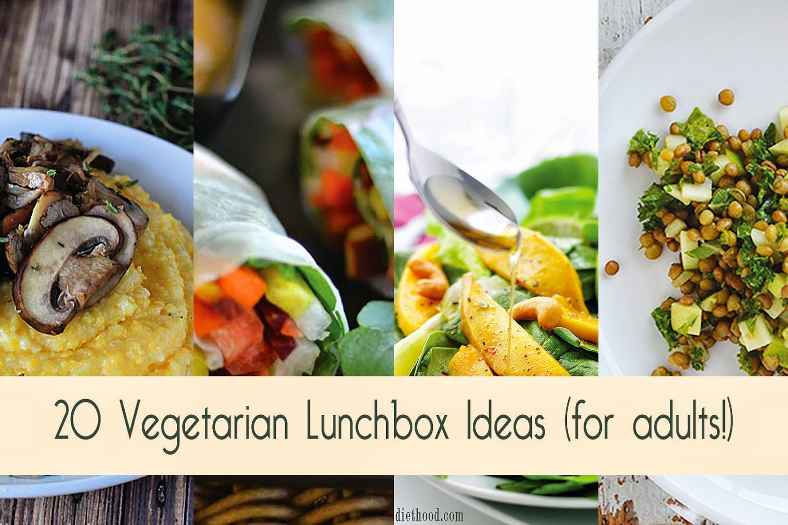 a spoonful of luxe 20 vegetarian lunchbox ideas for adults food