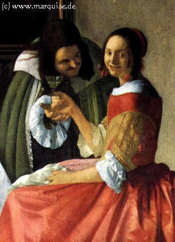 Lady and Gentleman, 1660  Jan Vermeer van Delft  Herzog Anton Ulrich Museum, Braunschweig