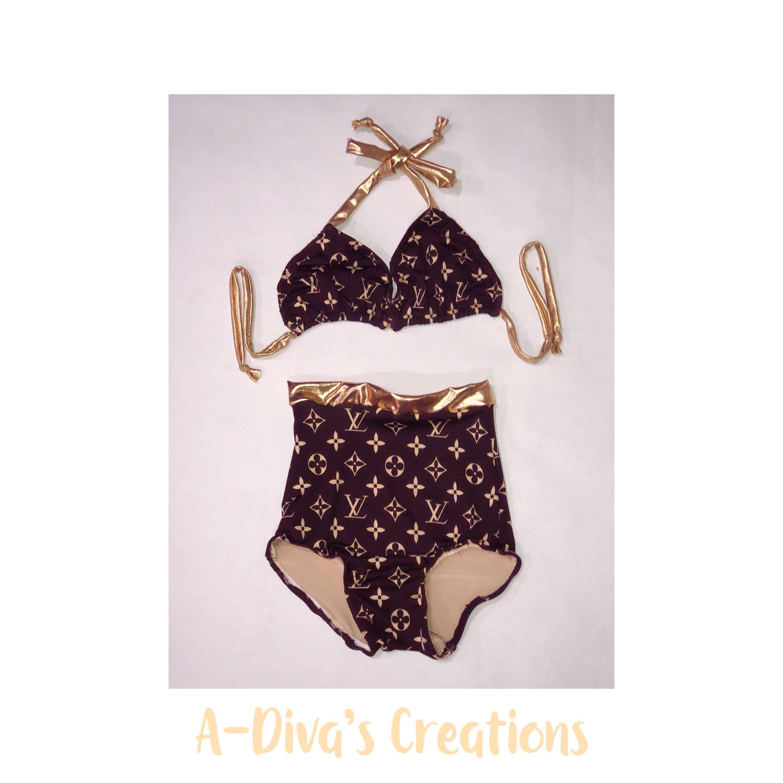 42ac508e65 Bikini Top · Louis Vuitton Monogram · A personal favorite from my Etsy shop  https://www.etsy.com