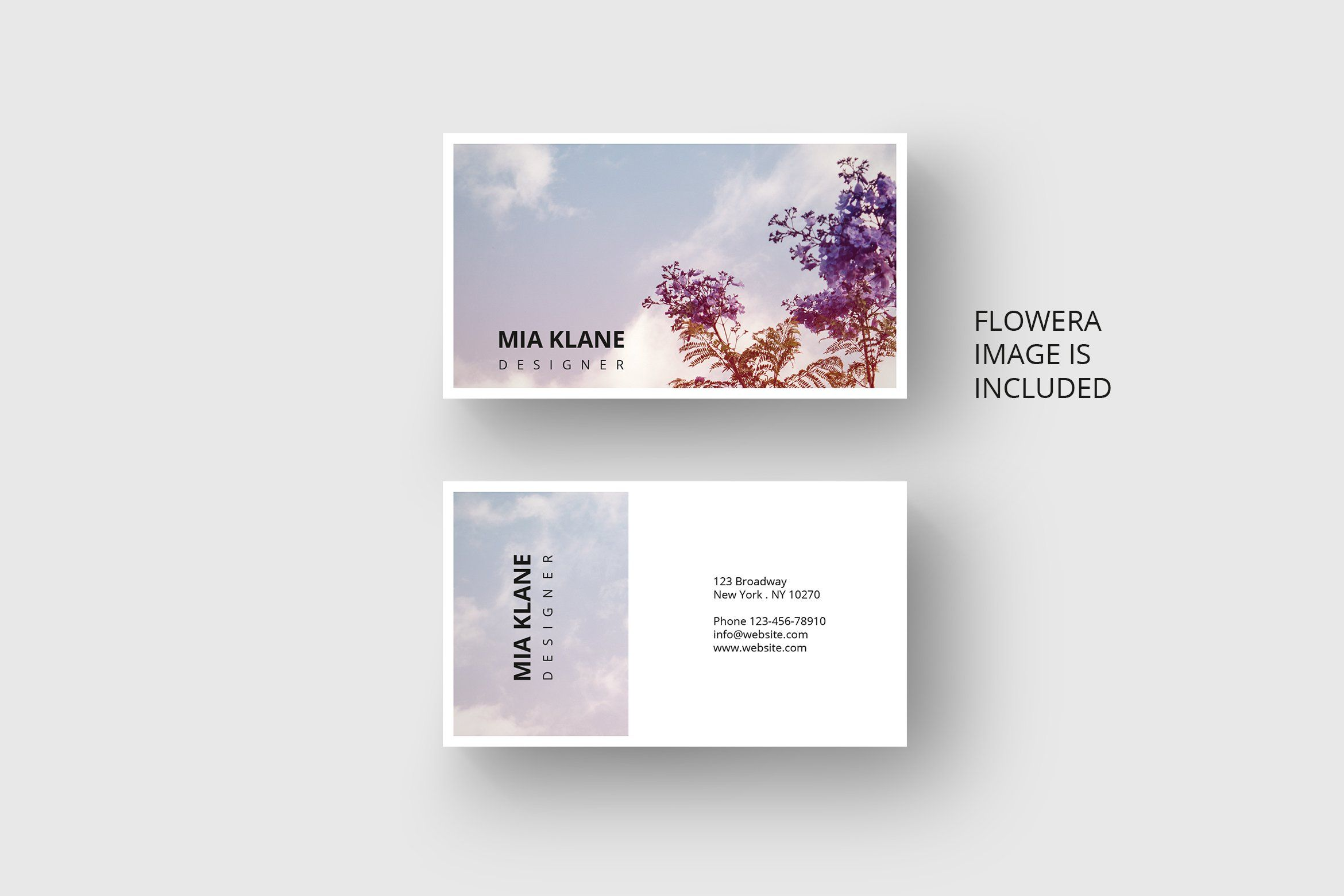 Purple Tree Business Card Template Business Card Design Business Card Template Business Cards Creative