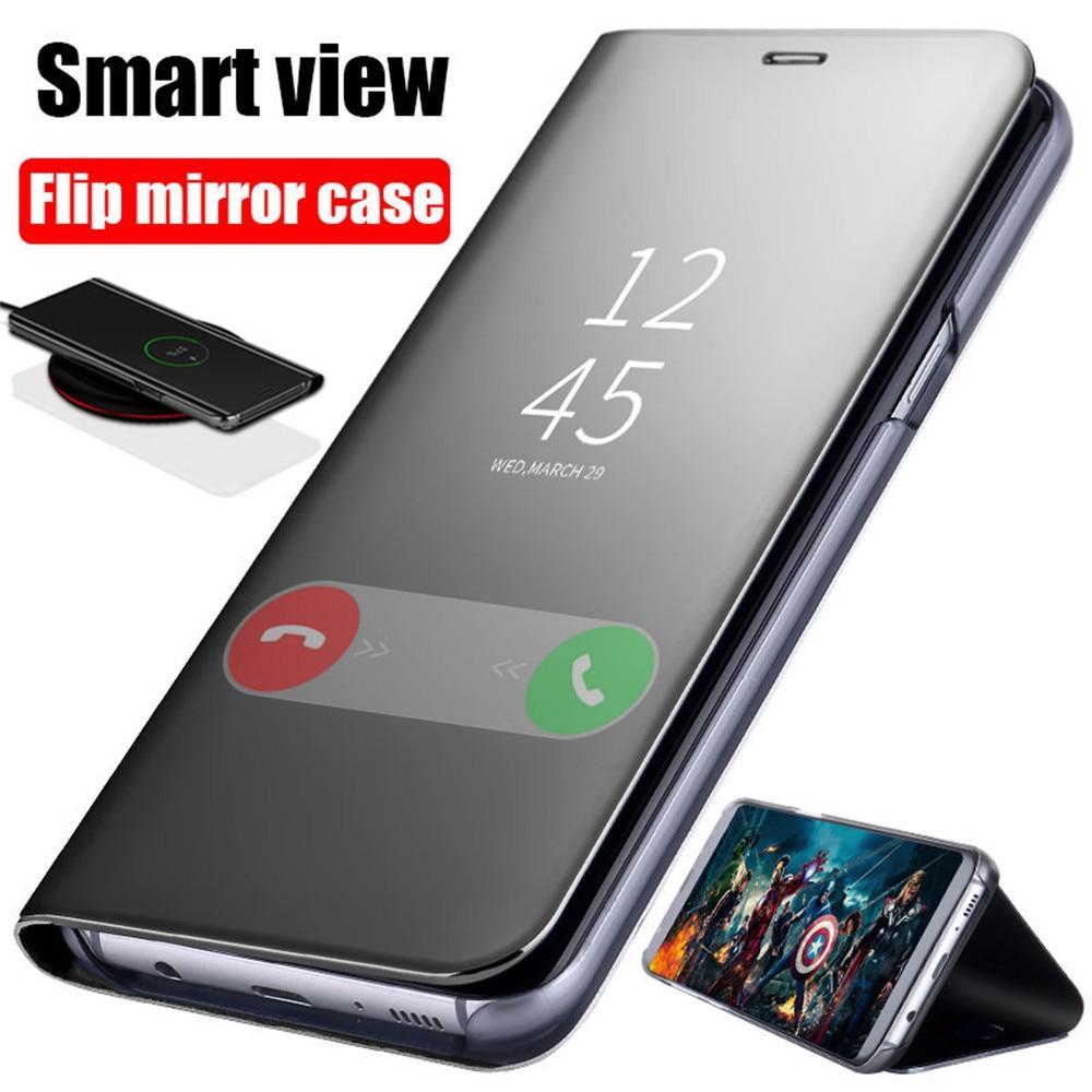 Espelho Inteligente Capa Para Samsung A8 A6 J4 J6 Plus J8 A7 2018 Cover Flip Phone Case Phone Cases Protective Samsung Galaxy