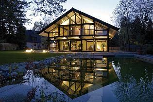 Passief huis van hout en glas productnieuws producten de architect buiten pinterest - Huis architect hout ...