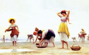 The Mussel Gatherers - Eugene de Blaas -