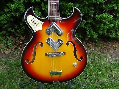 Vintage Greco Shrike 960 Archtop Electric Guitar Boomerang Pickups ...