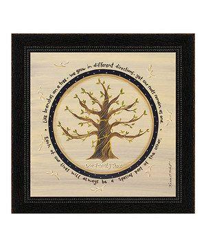 'Family Tree' Framed Wall Art by Karen's Art & Frame #zulily #zulilyfinds