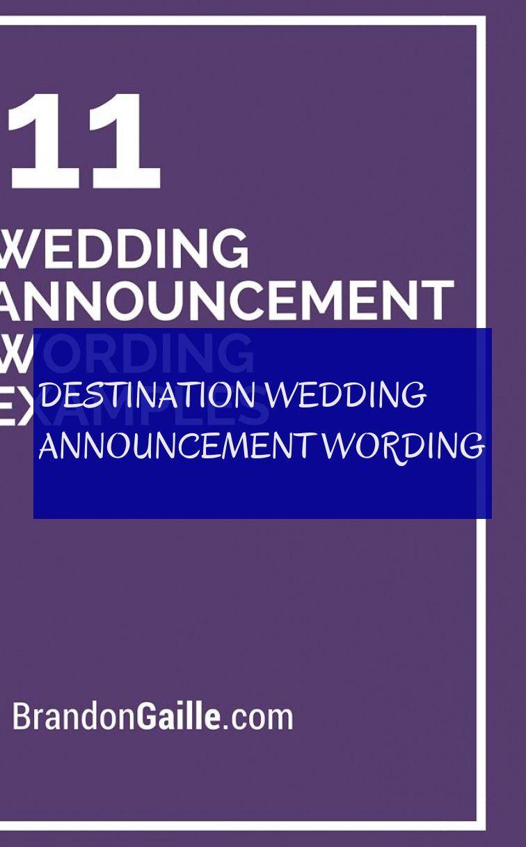 Destination Wedding Announcement Wording Bestimmungsorthochzeits Mitteilungsbenennung