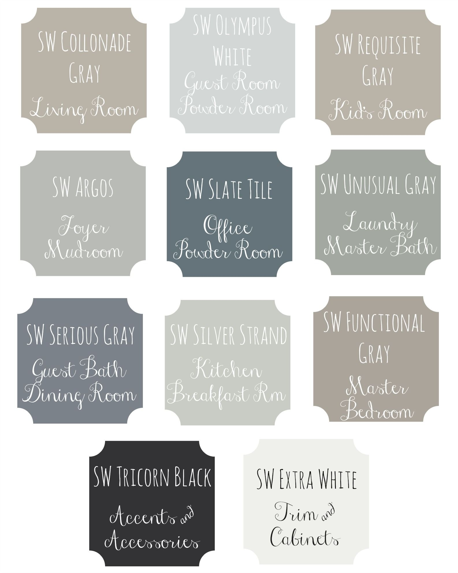 It 39 s easy to create a floor plan layout of paint colors for Paint colors that go together