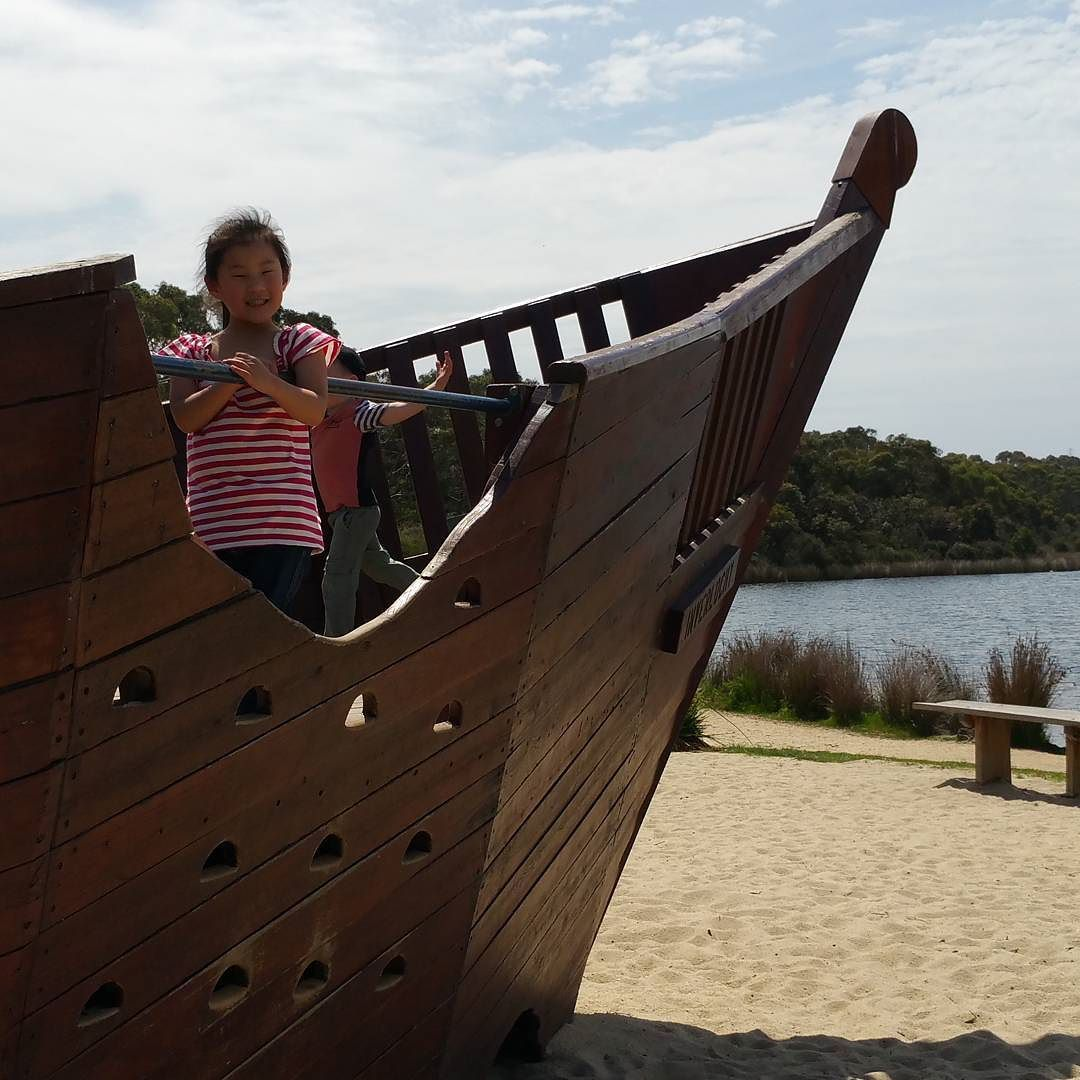 Beautiful day for a pirate adventure!  #anglesea #playground #picnic #lovemykids by relnew http://ift.tt/1KosRIg