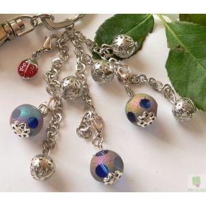 Perlen Bettle Schlüsselanhänger Charm Marienkäfer - KleeSchenke Spielwaren und Geschenke