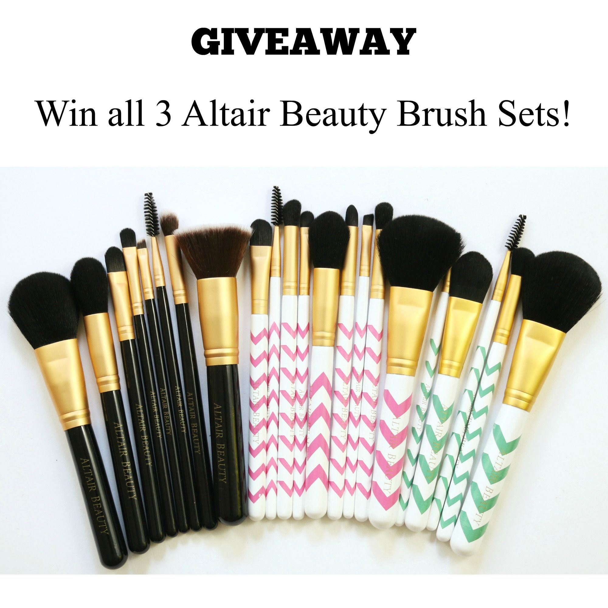 Win 3 sets of Makeup Brushes from Altair Beauty. Head over