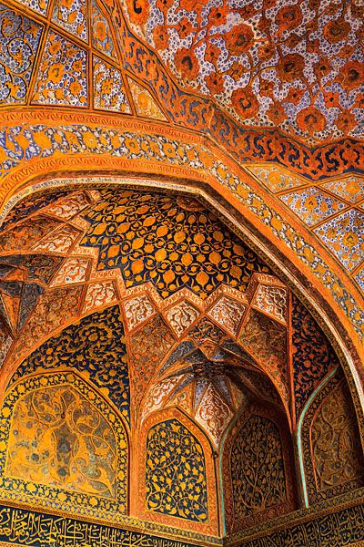 The Colourful Interior Of The Tomb Of Akbar The Great An
