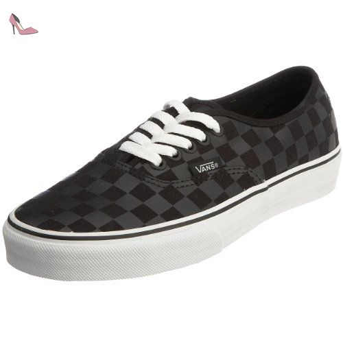 adulte mode U Black Vans Authentic Noir mixte Baskets Checkboard aXxtRwP