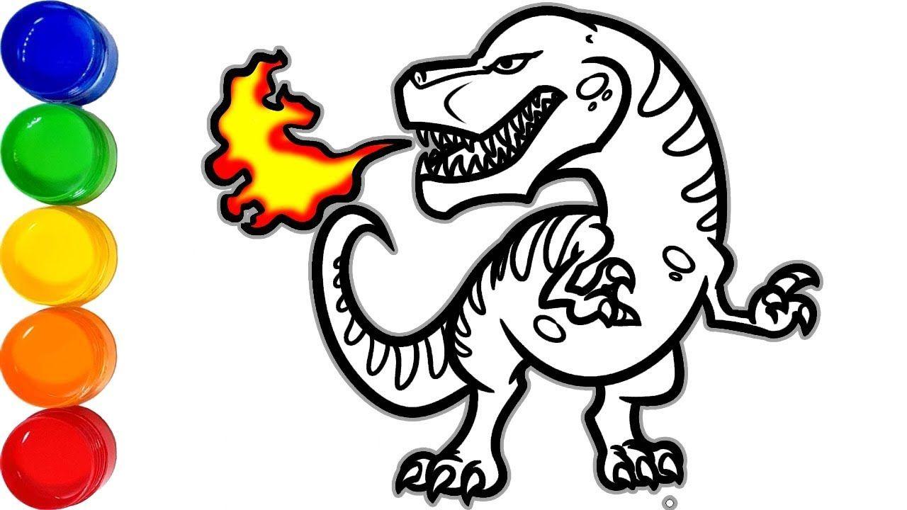 Feuerspeiender Drache Malvorlage