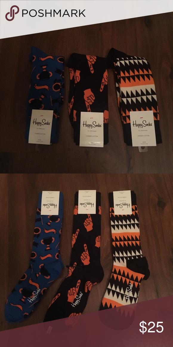 4975e45202789 Happy Socks 3 pack Fall Theme 3 brand new happy socks to fit the Halloween  spirit! Happy Socks Accessories Hosiery & Socks