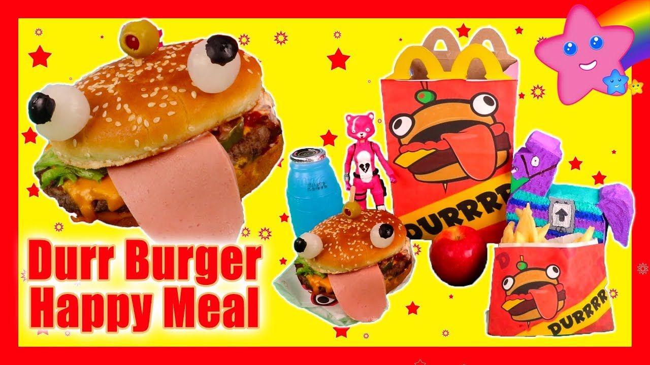 How To Make A Fortnite Durr Burger Custom Happy Meal Fun