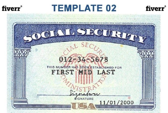 blank social security card template download Social Security Card Template | cyberuse #sampleResume #FreeResume