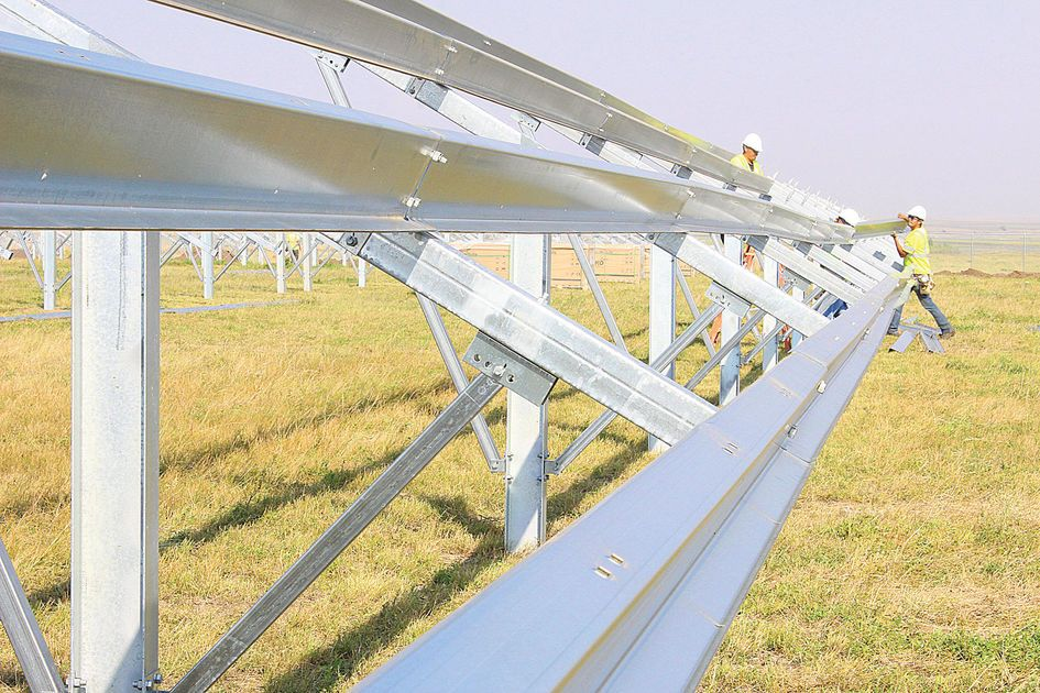 Construction underway for solar energy project at airport
