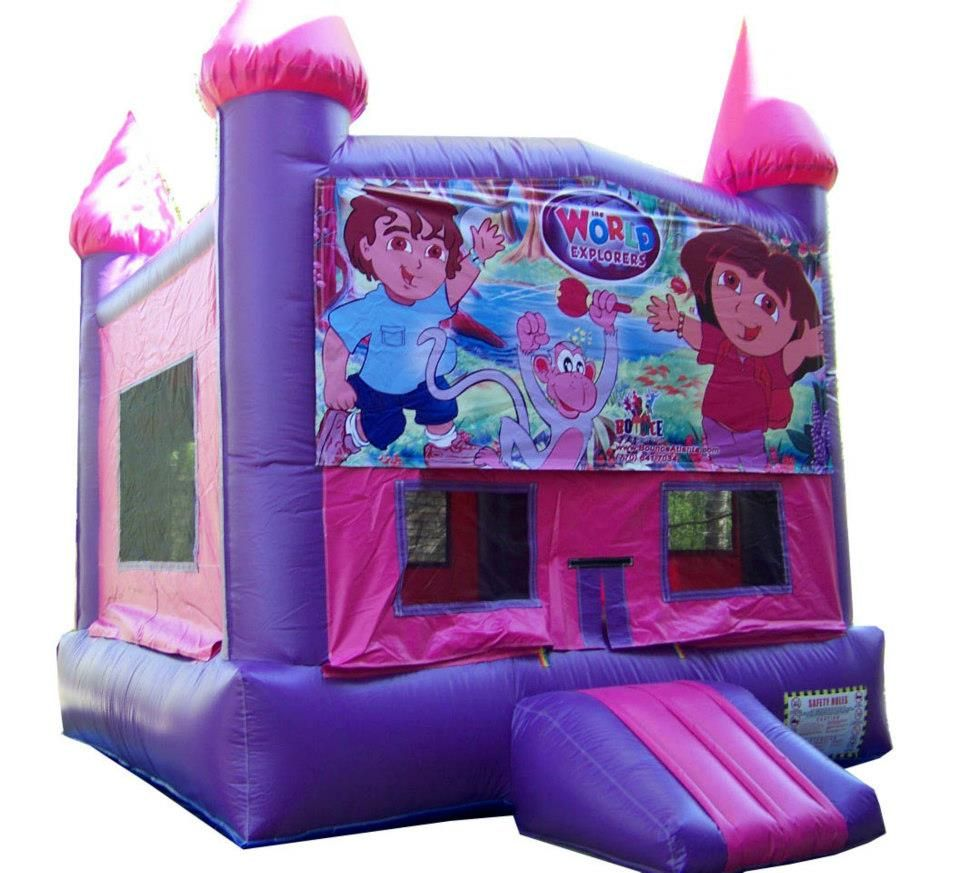 Our Dora the Explorer moonwalk! $135 plus delivery to rent for a whole day!