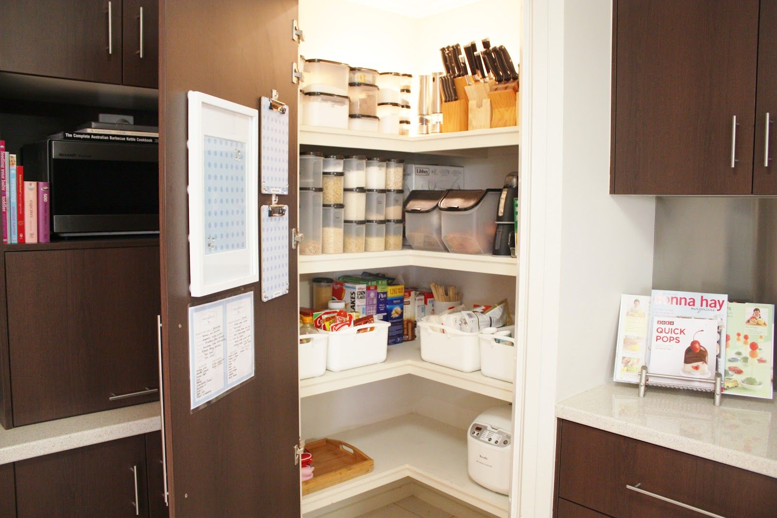 Kitchen Corner Pantry Design Ideas Part - 37: Image Result For L Shaped Kitchen With Corner Pantry