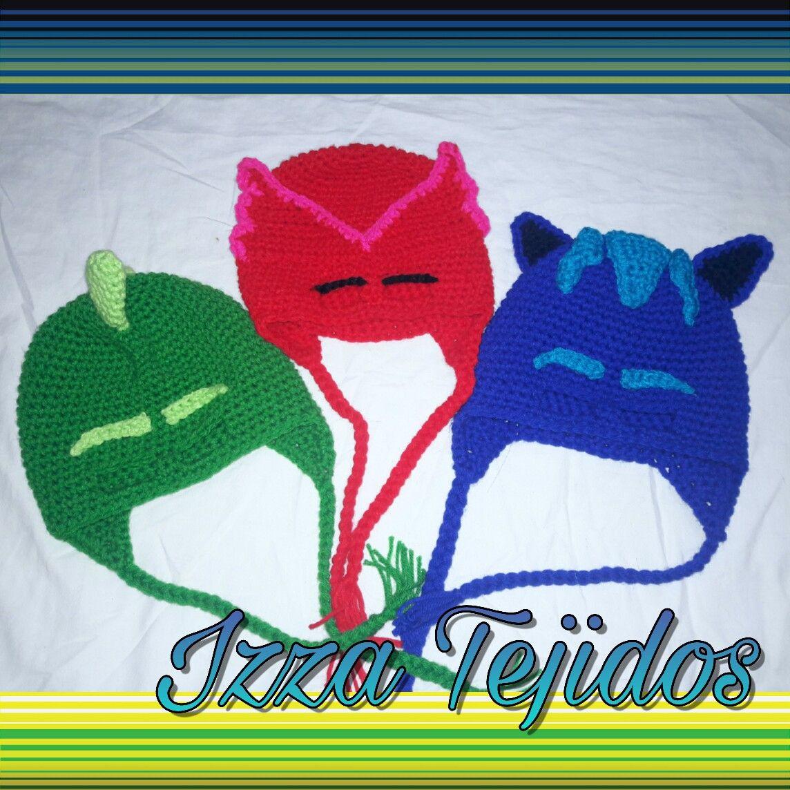 9d45fa87f4be1 Gorro Crochet PJ MASKS héroes en pijama
