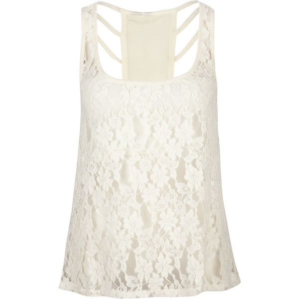 FULL TILT Lace Front Womens Tank ($9.97) ❤ liked on Polyvore