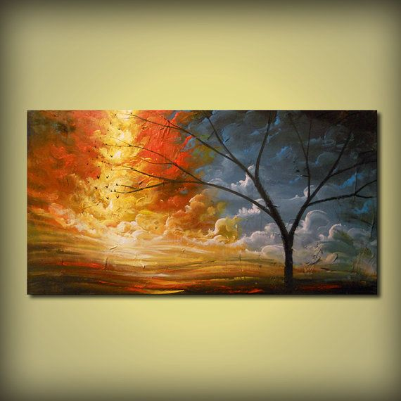 Abstract red blue painting modern surreal painting surreal art ...