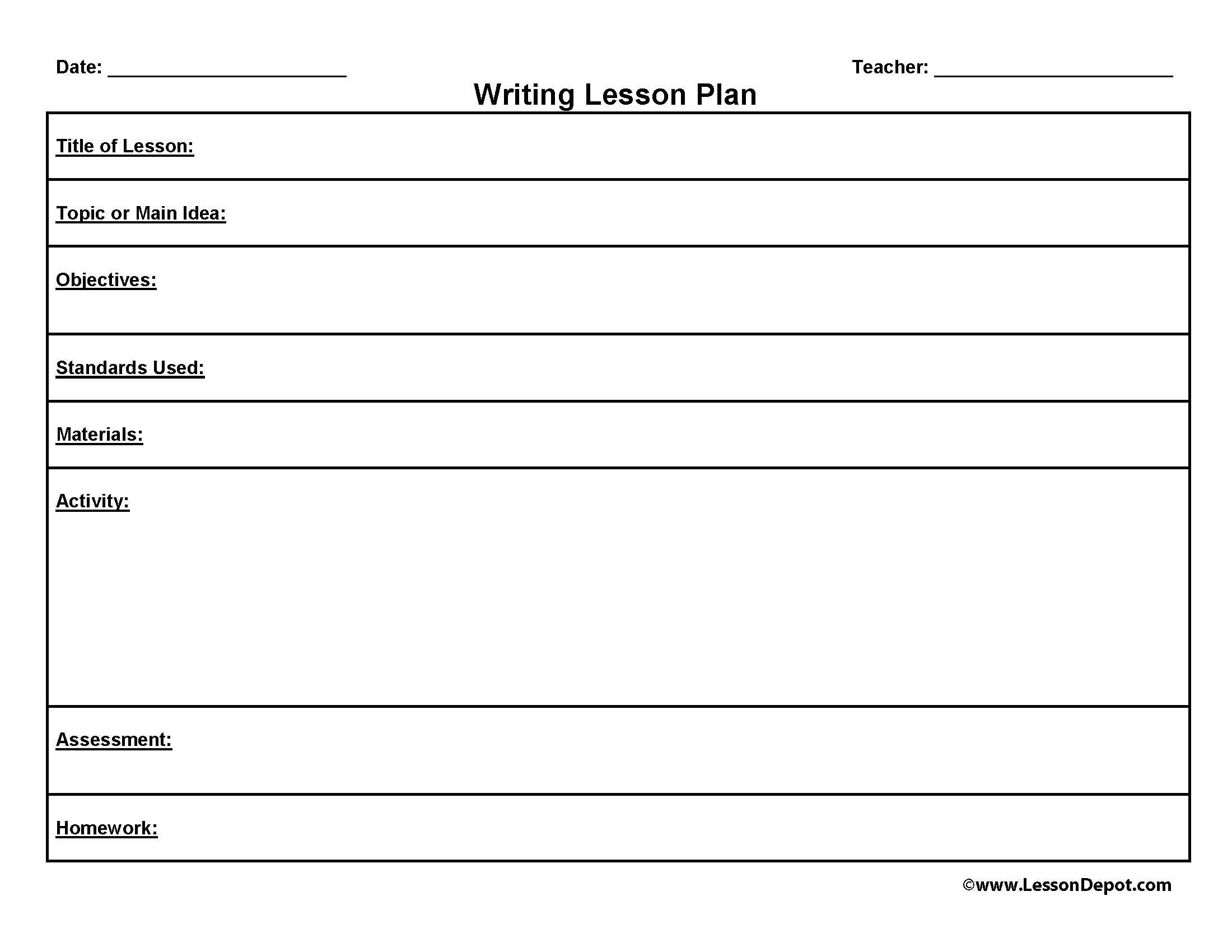 creative writing lesson plan template With this creative writing exercise for grades 7-12, students use introspection and visioning to inspire a fictional narrative.