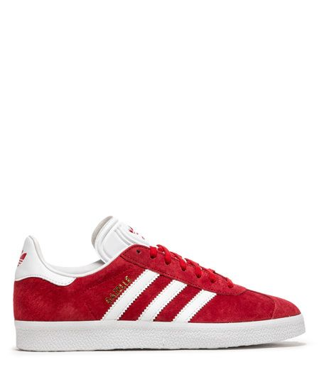 d2be88f9ccfc85 GAZELLE SCARLET RED ROYAL WOMENS SNEAKERS COLOR WHITE-Adidas Originals  Gazelle Sneakers in suede color scarlet red. White leather back patch with  Adidas ...
