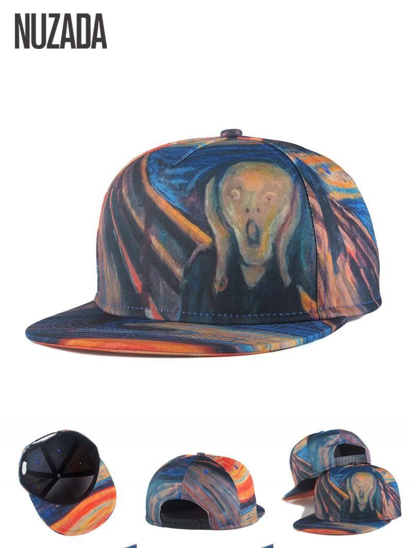 c94fb0643b2  Visit to Buy  Brands NUZADA Color Painting Porch Skull Spring Summer Men  Women Hat