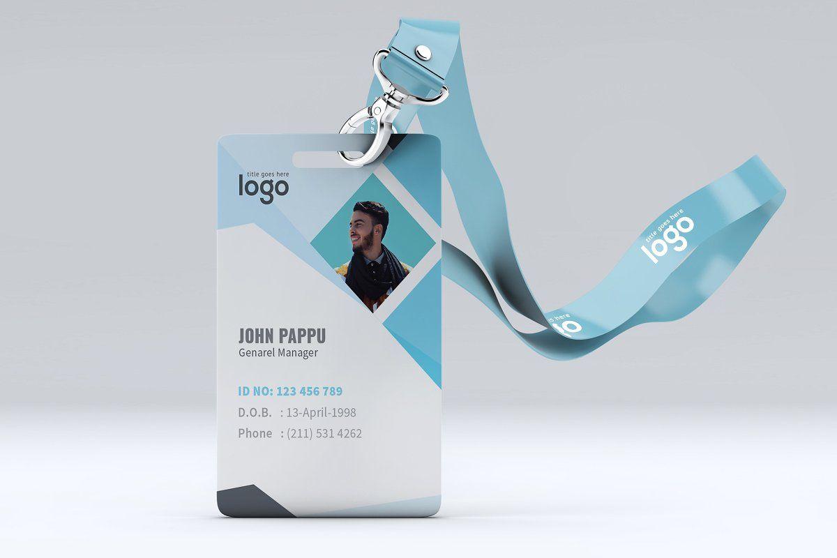 Minimal Id Card Design Card Design Id Card Template Cards