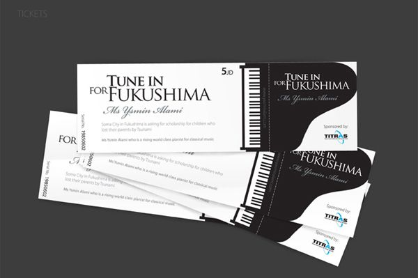 Tune In Fukushima Ticket Design Ticket Design Pinterest